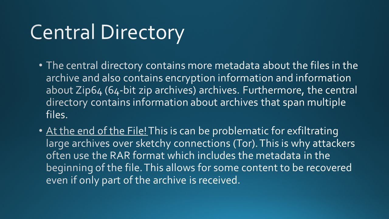 Central Directory