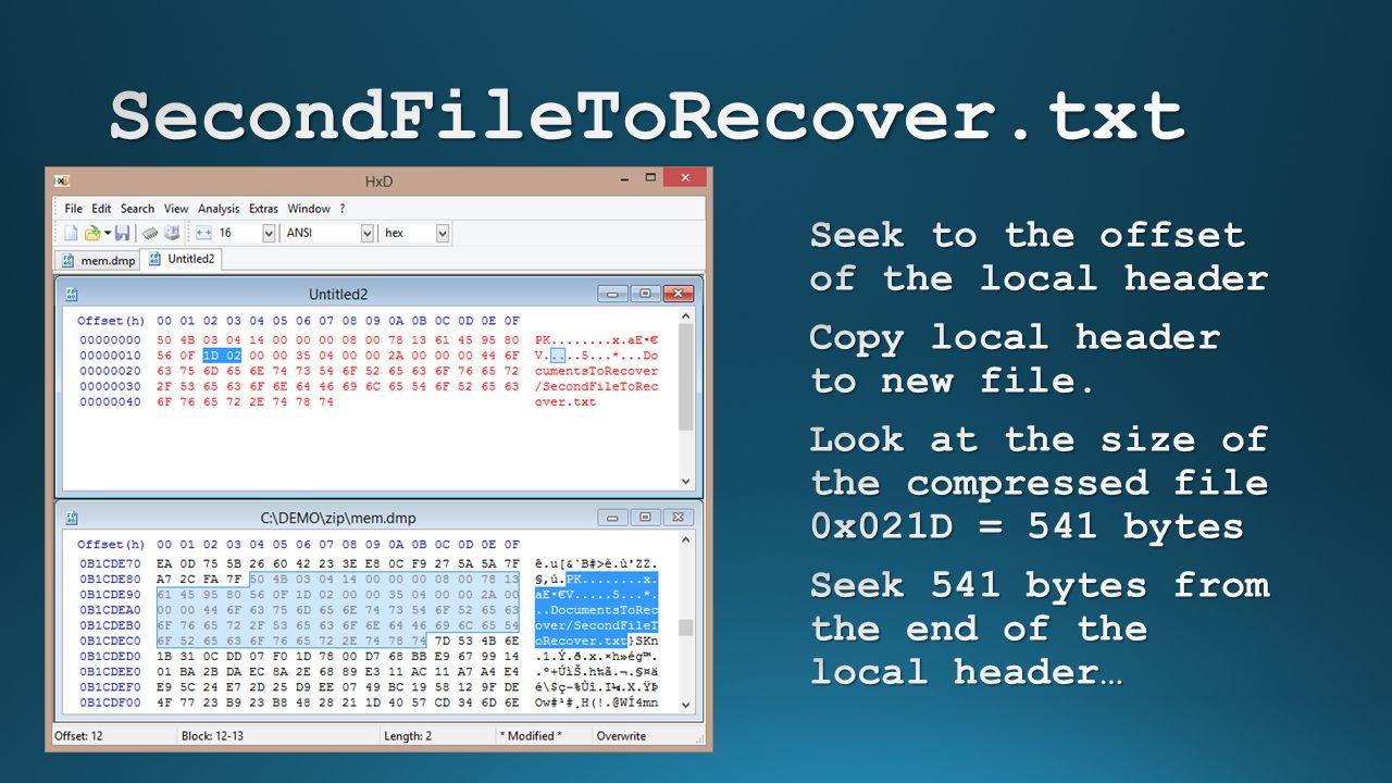 SecondFileToRecover.txt