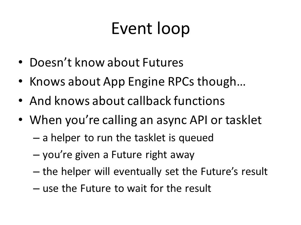 Event loop Doesn't know about Futures