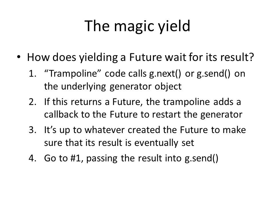 The magic yield How does yielding a Future wait for its result