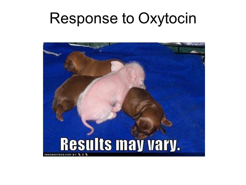 Response to Oxytocin
