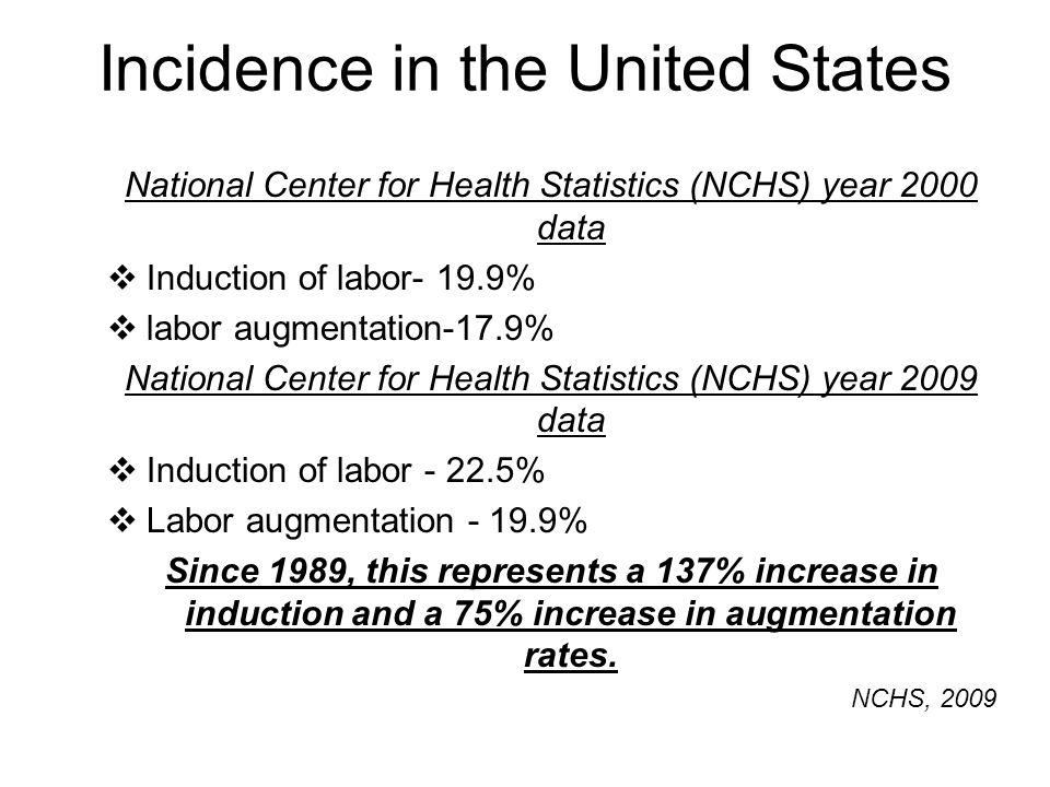 Incidence in the United States