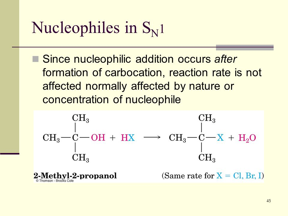 Nucleophiles in SN1