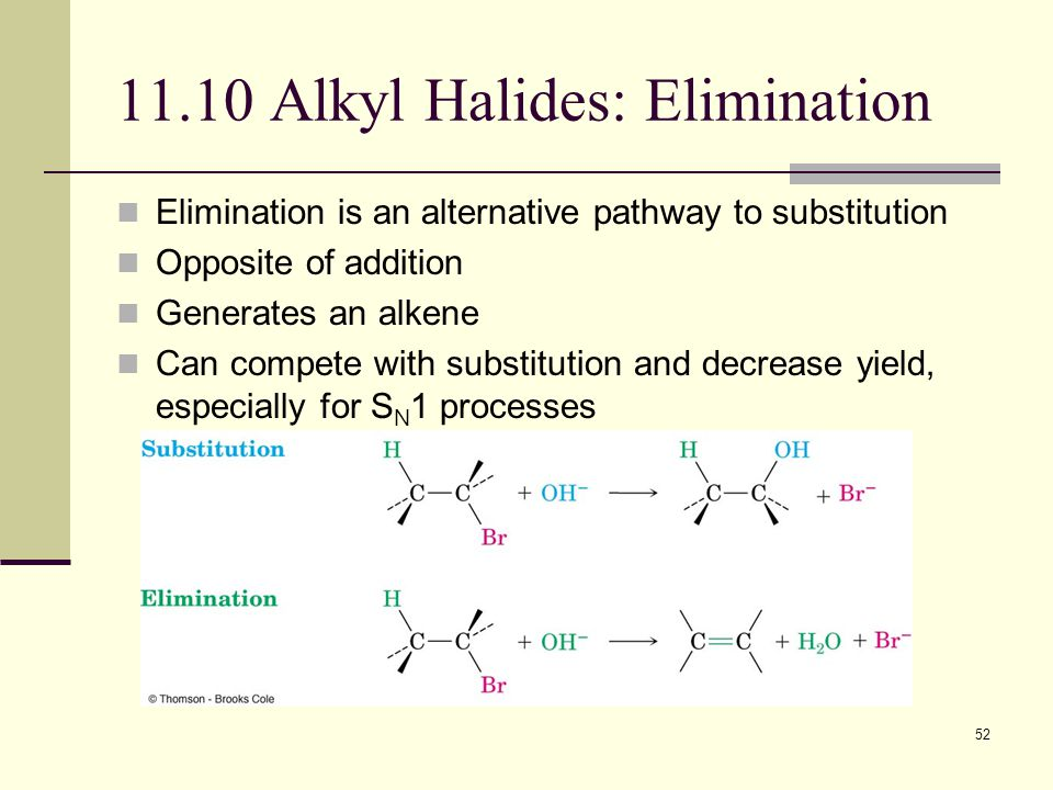 11.10 Alkyl Halides: Elimination