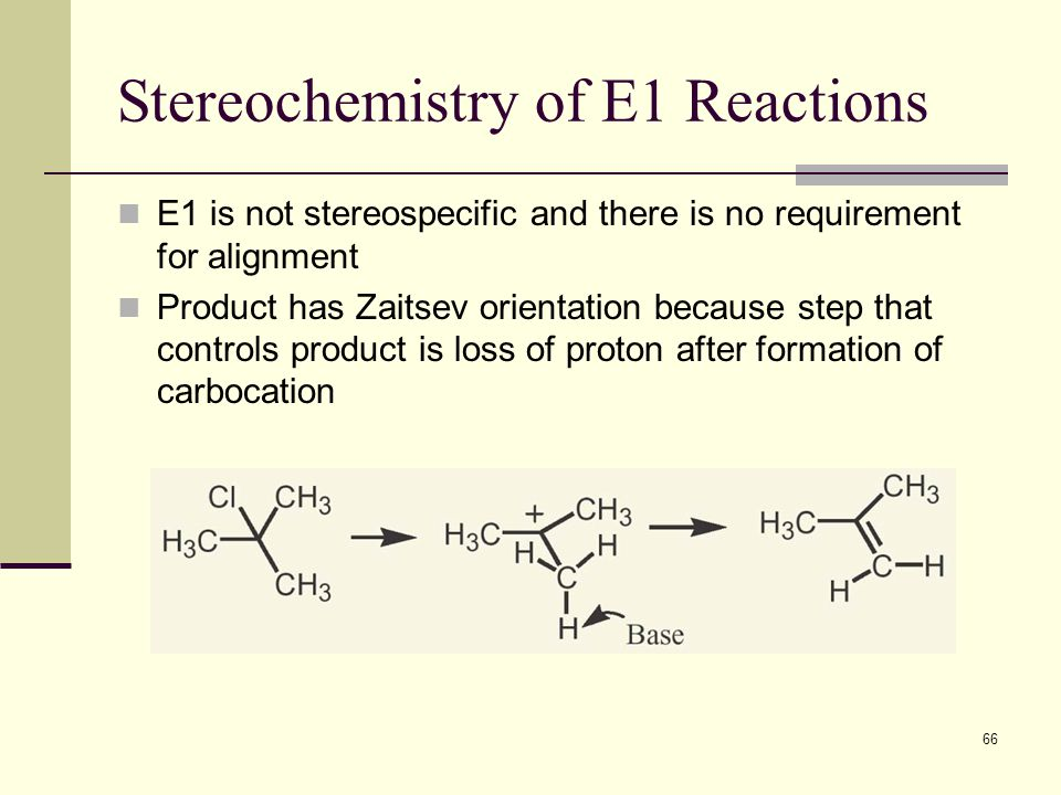 Stereochemistry of E1 Reactions