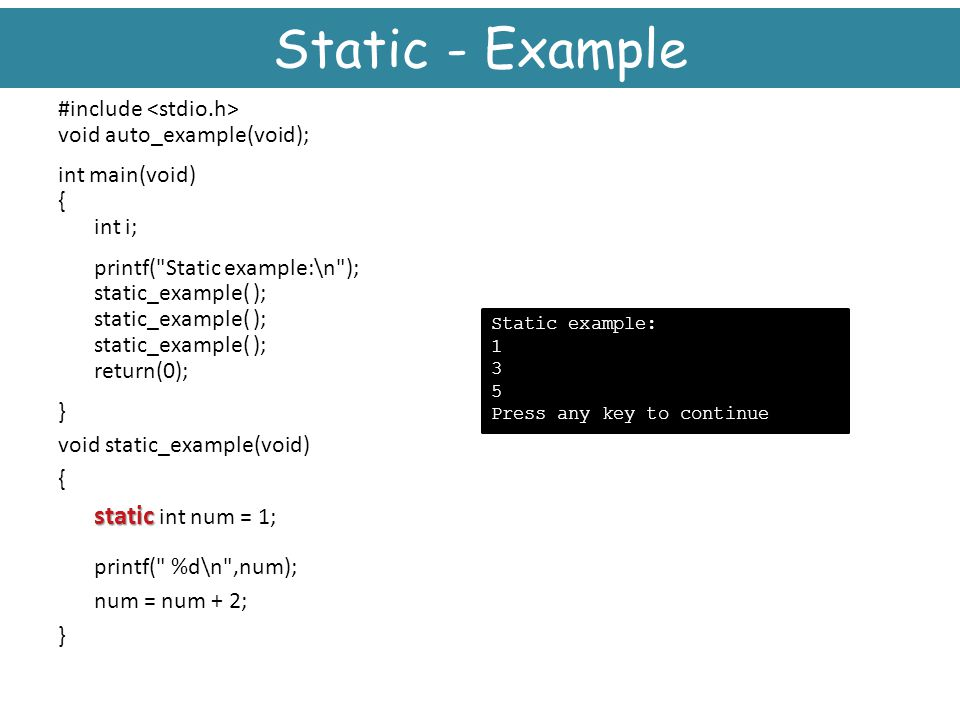 Static - Example