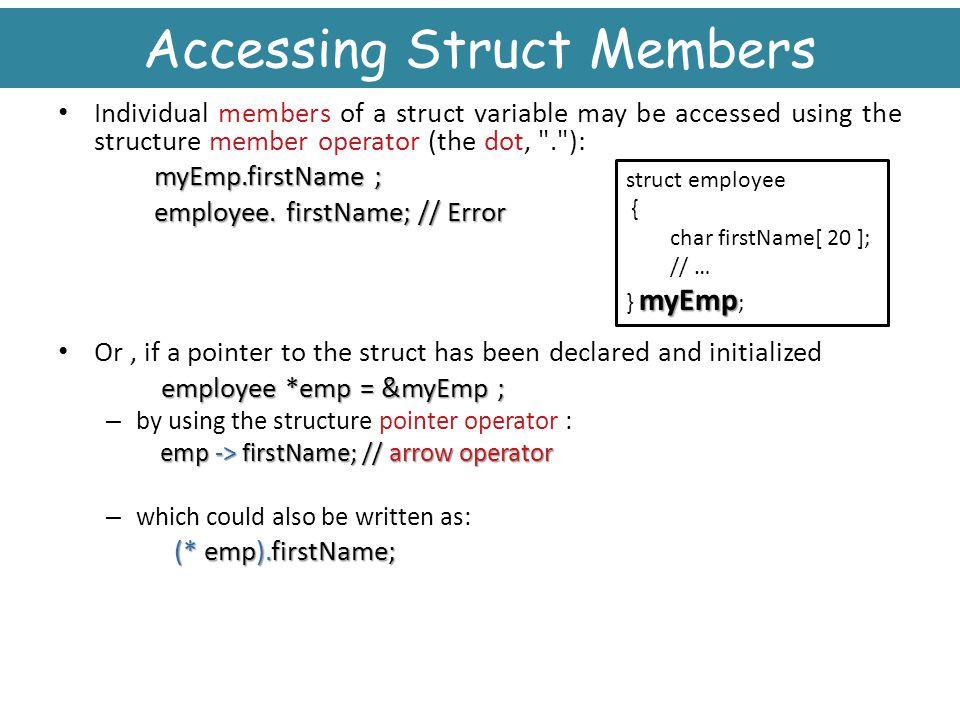 Accessing Struct Members