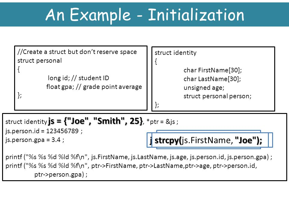 An Example - Initialization