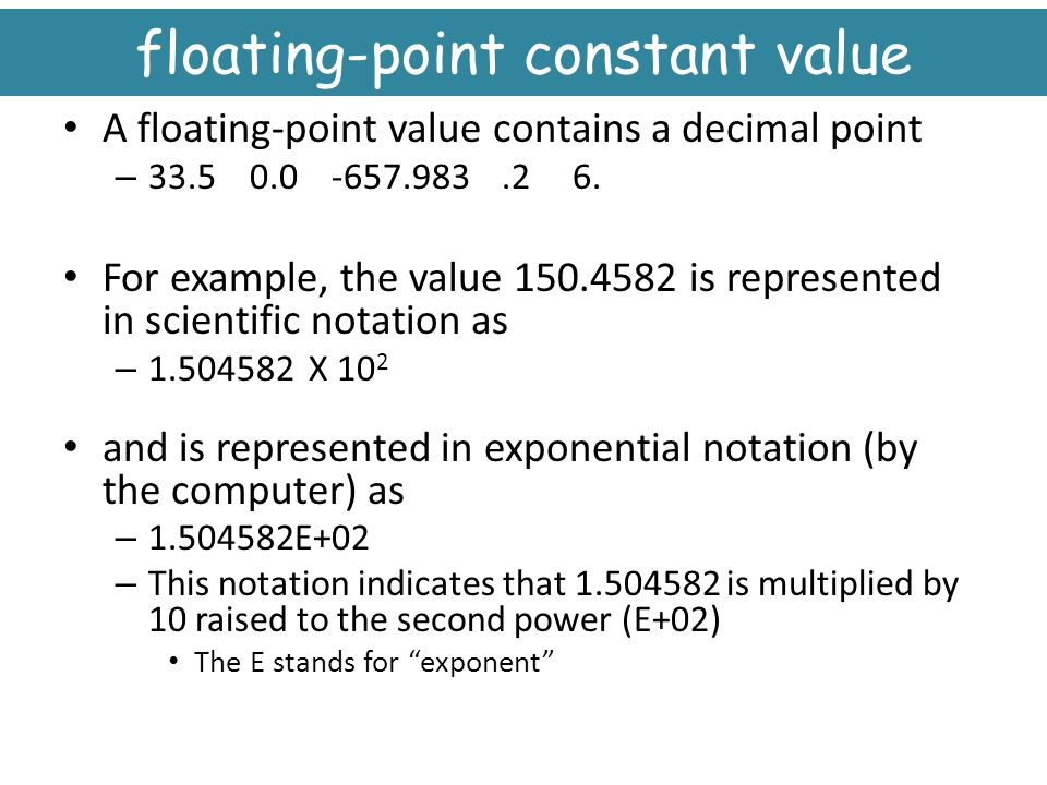 floating-point constant value