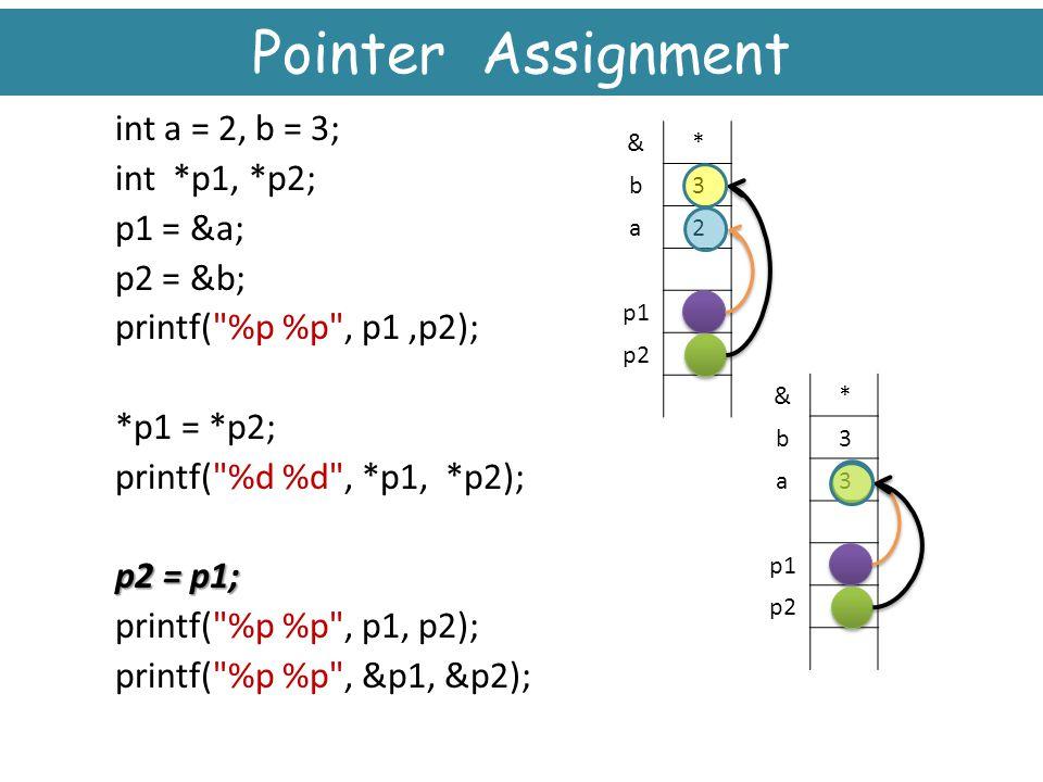 Pointer Assignment