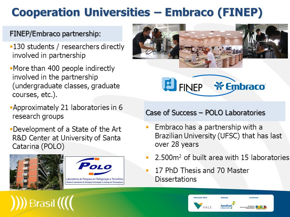 Cooperation Universities – Embraco (FINEP)