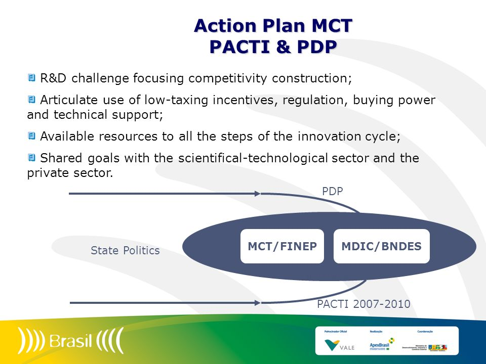 Action Plan MCT PACTI & PDP