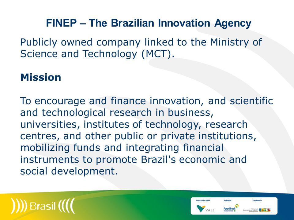 FINEP – The Brazilian Innovation Agency