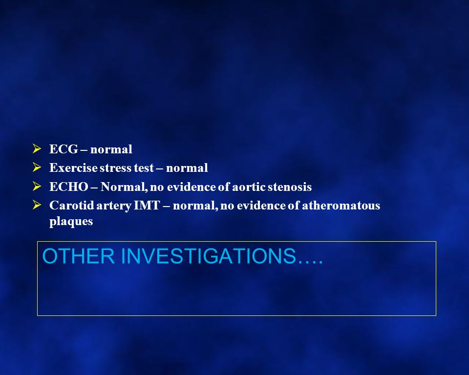Other Investigations….