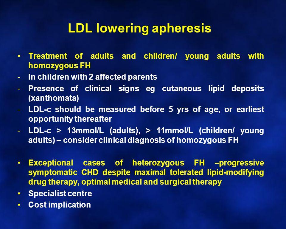LDL lowering apheresis