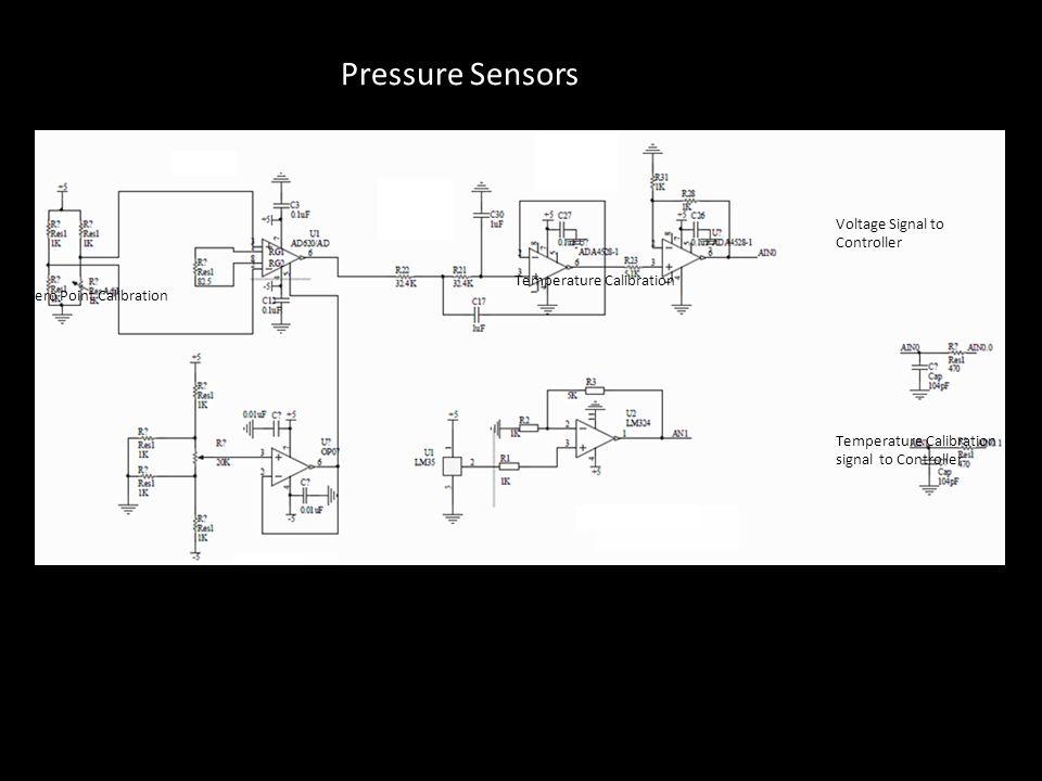 Pressure Sensors Preamplifier (AD620) Amplifier