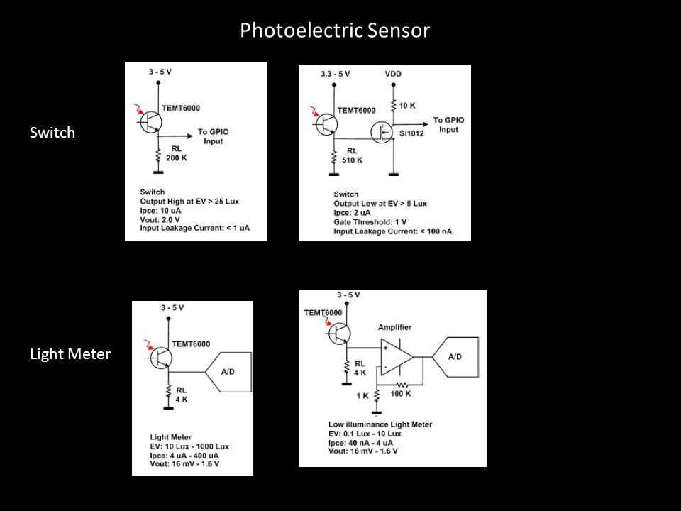 Photoelectric Sensor Switch Light Meter