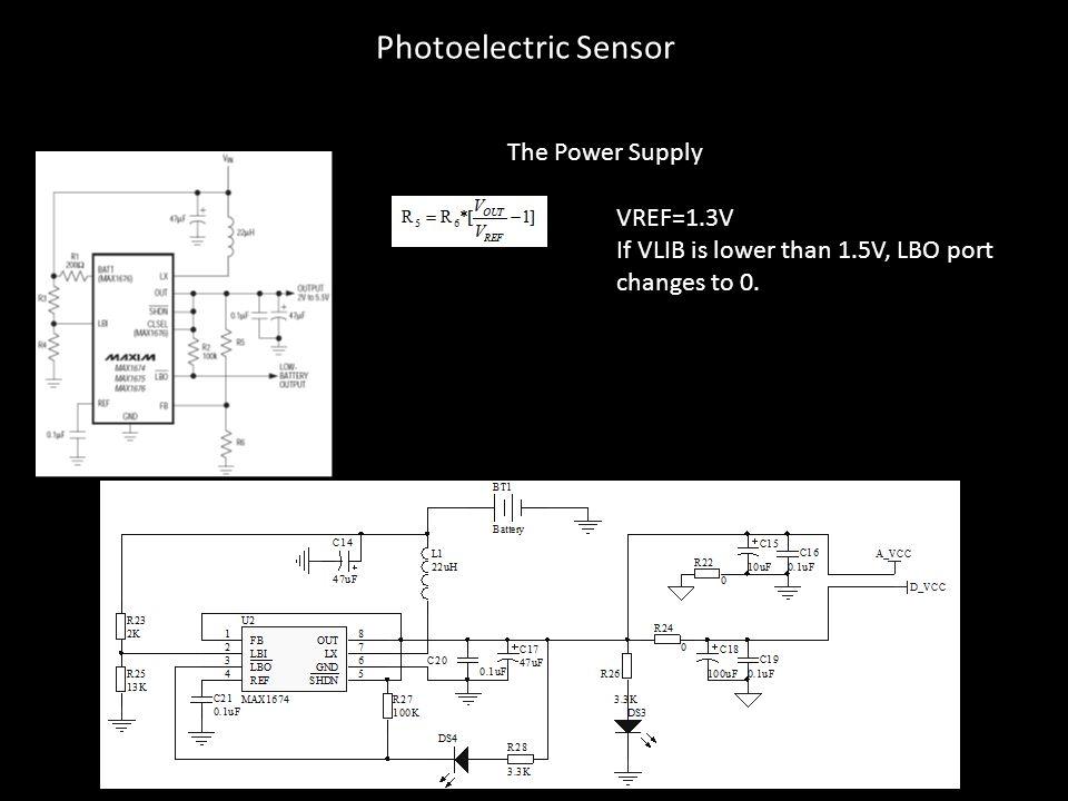 Photoelectric Sensor The Power Supply VREF=1.3V
