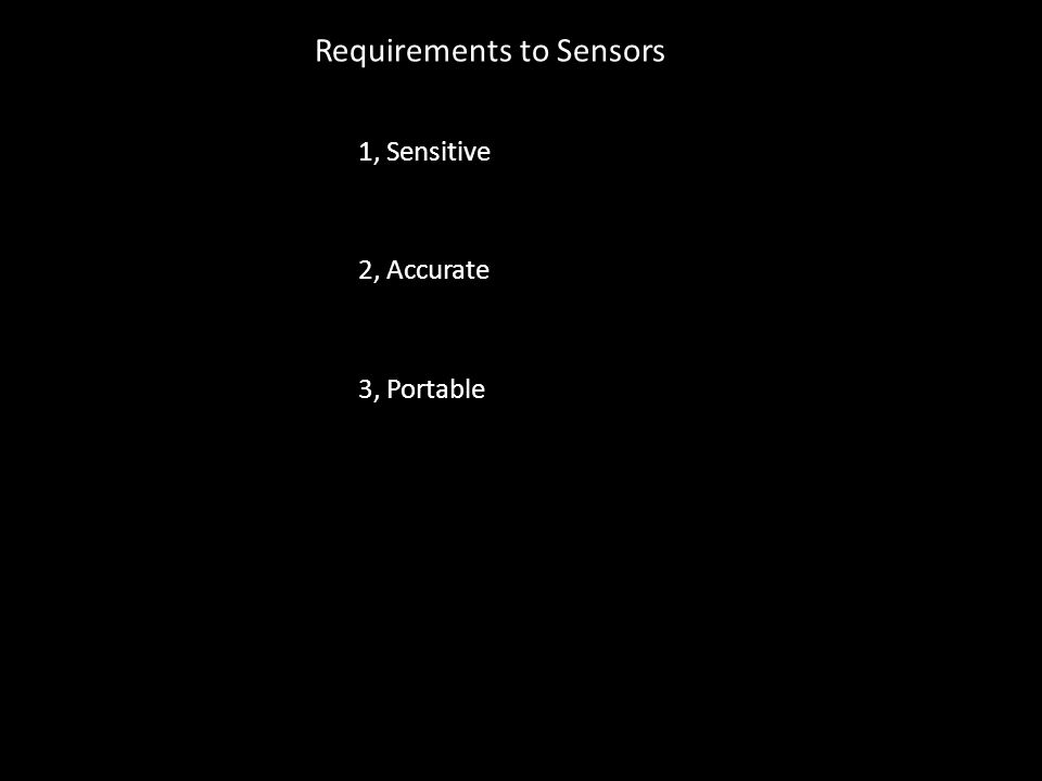 Requirements to Sensors