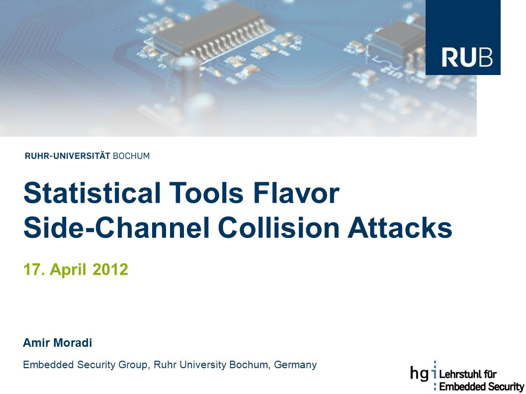 Statistical Tools Flavor Side-Channel Collision Attacks