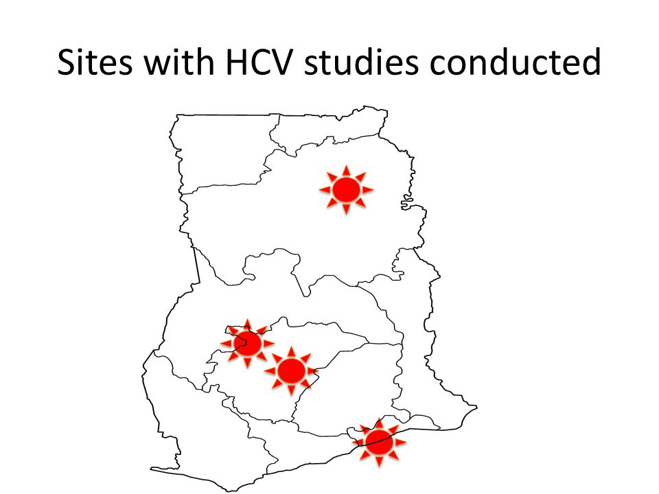 Sites with HCV studies conducted