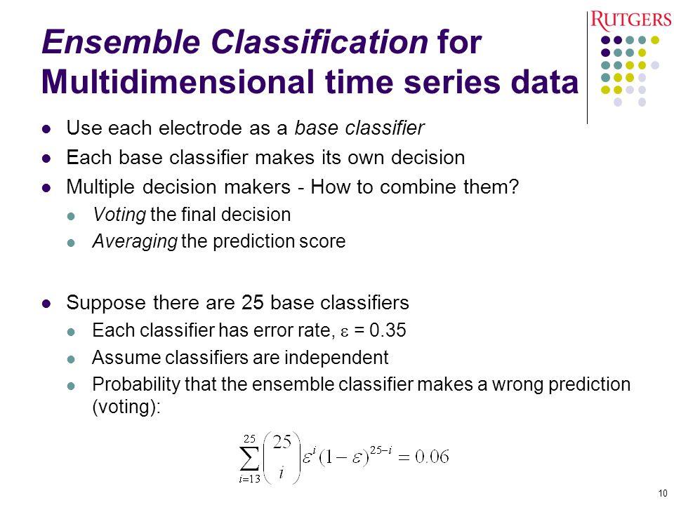 Ensemble Classification for Multidimensional time series data