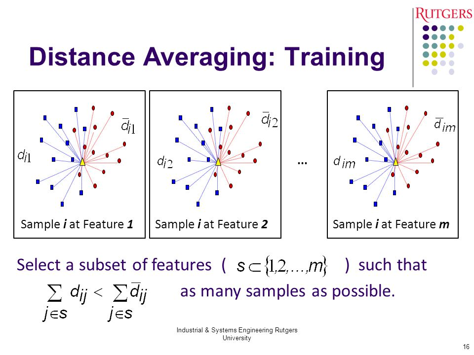 Distance Averaging: Training