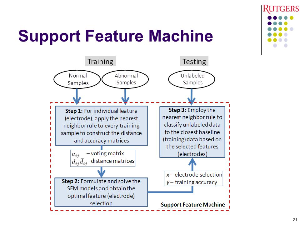 Support Feature Machine