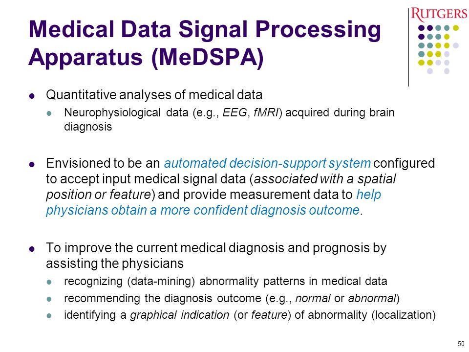 Medical Data Signal Processing Apparatus (MeDSPA)