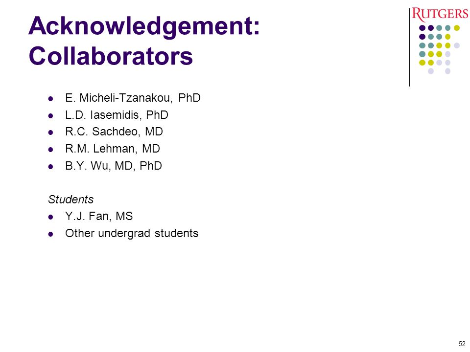 Acknowledgement: Collaborators