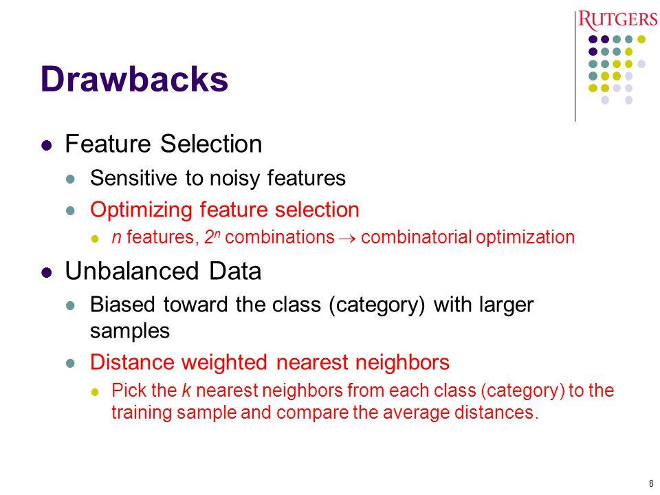 Drawbacks Feature Selection Unbalanced Data