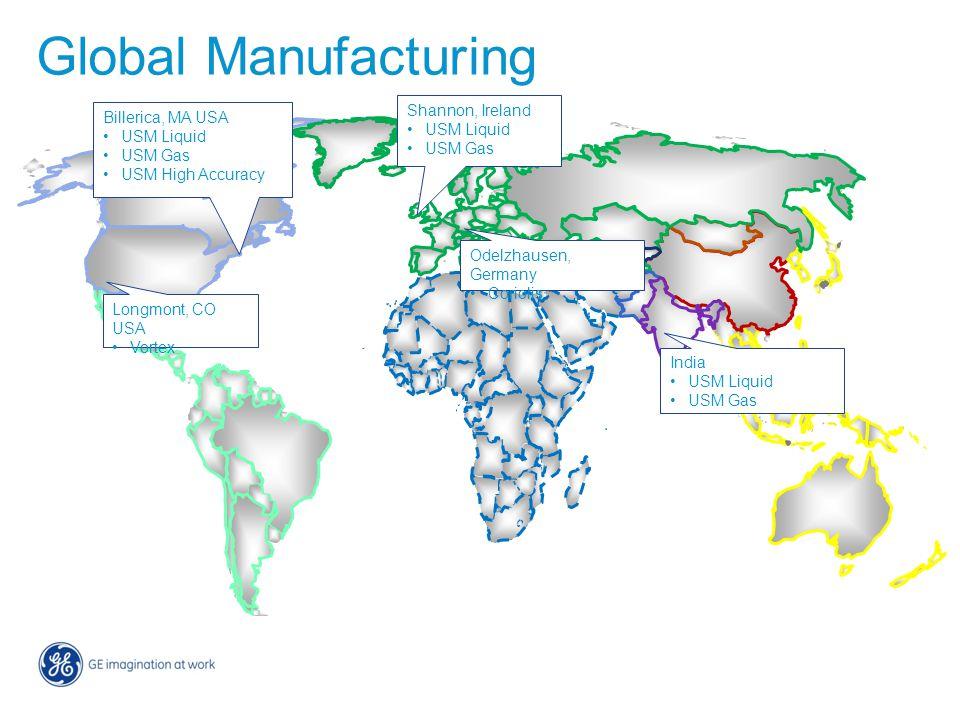 Global Manufacturing Shannon, Ireland Billerica, MA USA USM Liquid