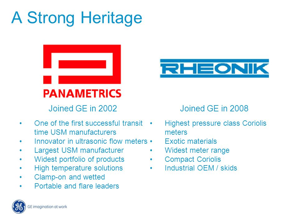 A Strong Heritage Joined GE in 2002 Joined GE in 2008
