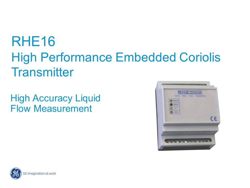 RHE16 High Performance Embedded Coriolis Transmitter
