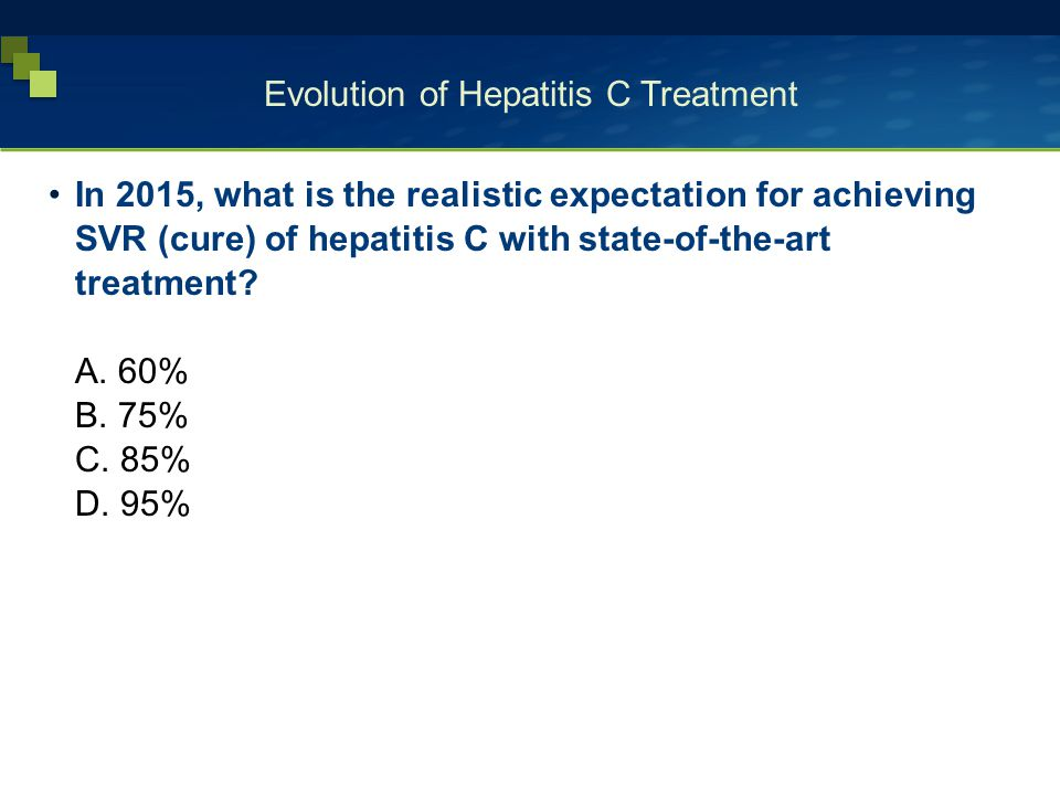 Evolution of Hepatitis C Treatment