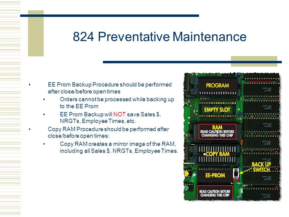 824 Preventative Maintenance