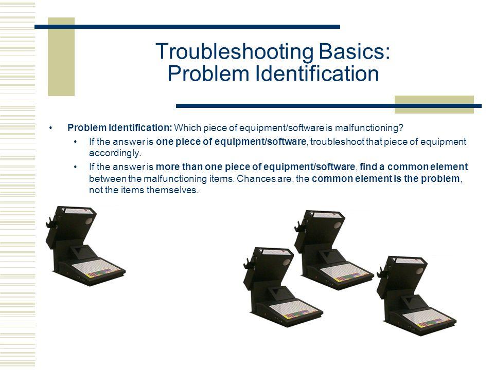 Troubleshooting Basics: Problem Identification