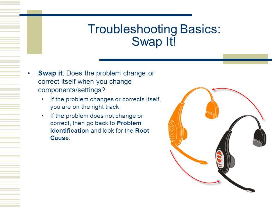 Troubleshooting Basics: Swap It!