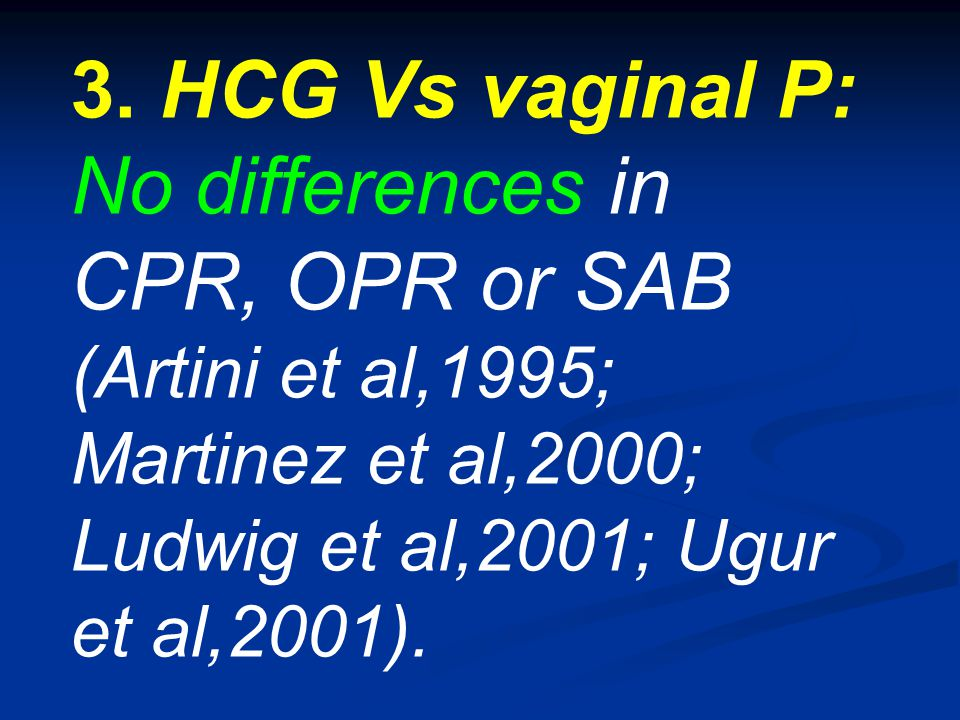 No differences in CPR, OPR or SAB