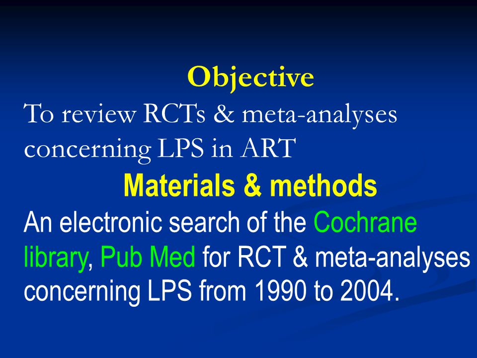 Objective Materials & methods