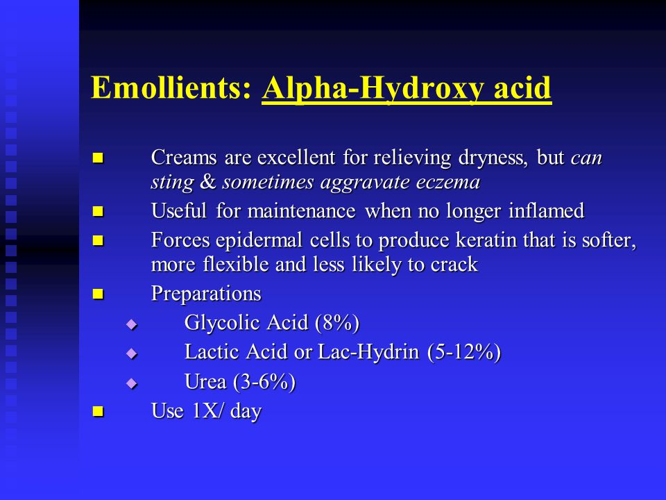 Emollients: Alpha-Hydroxy acid