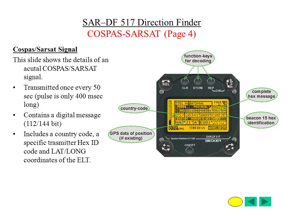 SAR–DF 517 Direction Finder COSPAS-SARSAT (Page 4)
