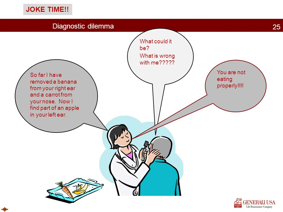 JOKE TIME!! Diagnostic dilemma What could it be