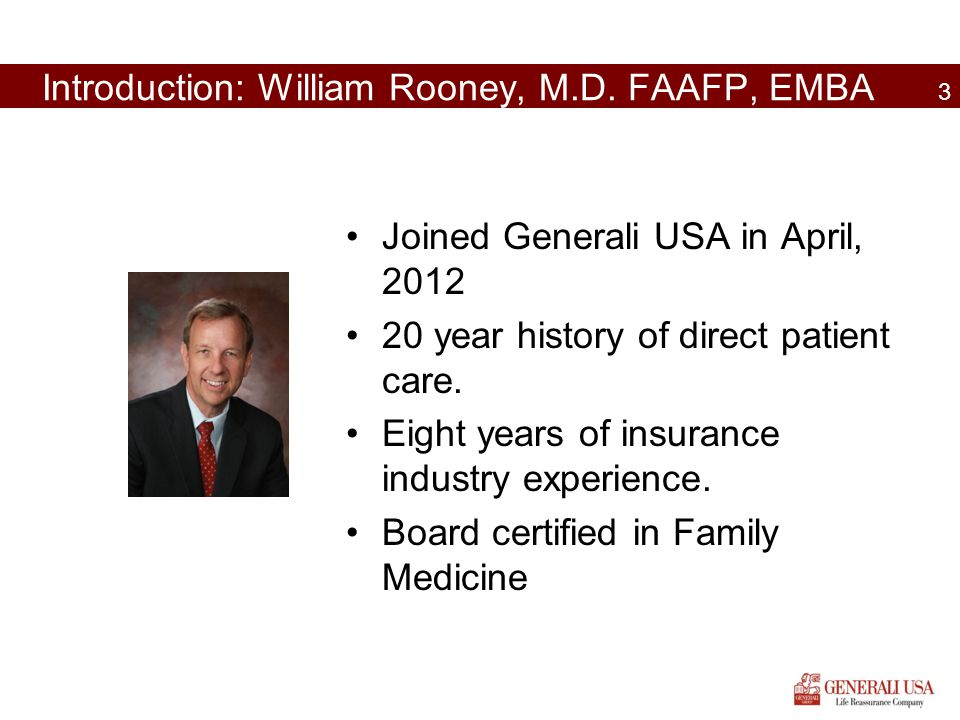 Introduction: William Rooney, M.D. FAAFP, EMBA