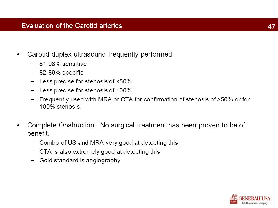 Evaluation of the Carotid arteries