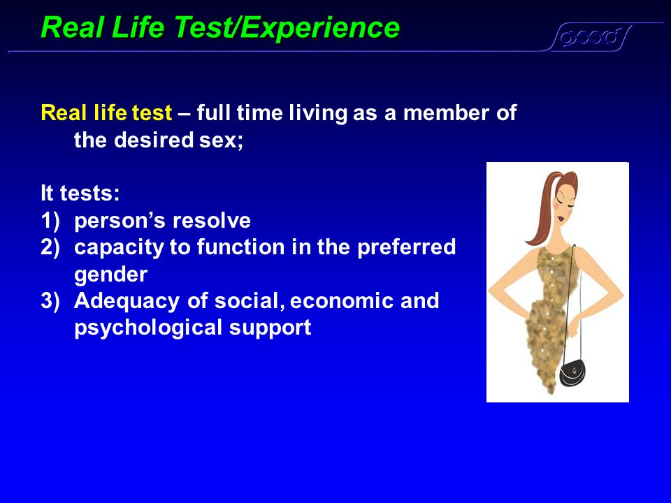 Real Life Test/Experience