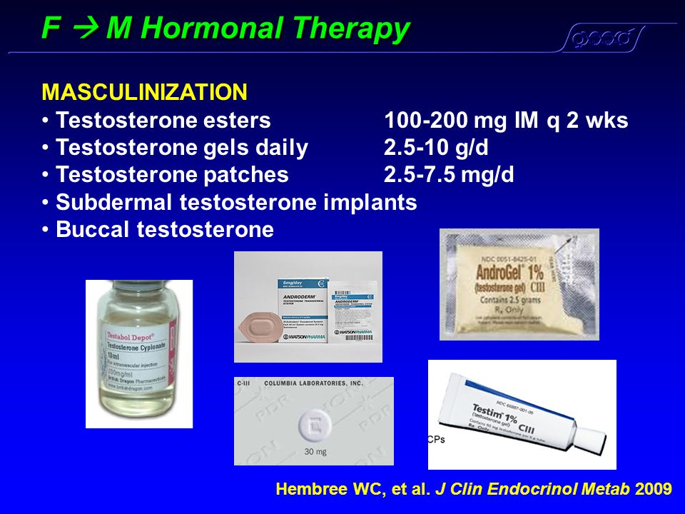 F  M Hormonal Therapy MASCULINIZATION