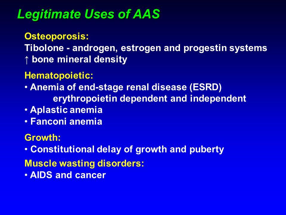 Legitimate Uses of AAS Osteoporosis: