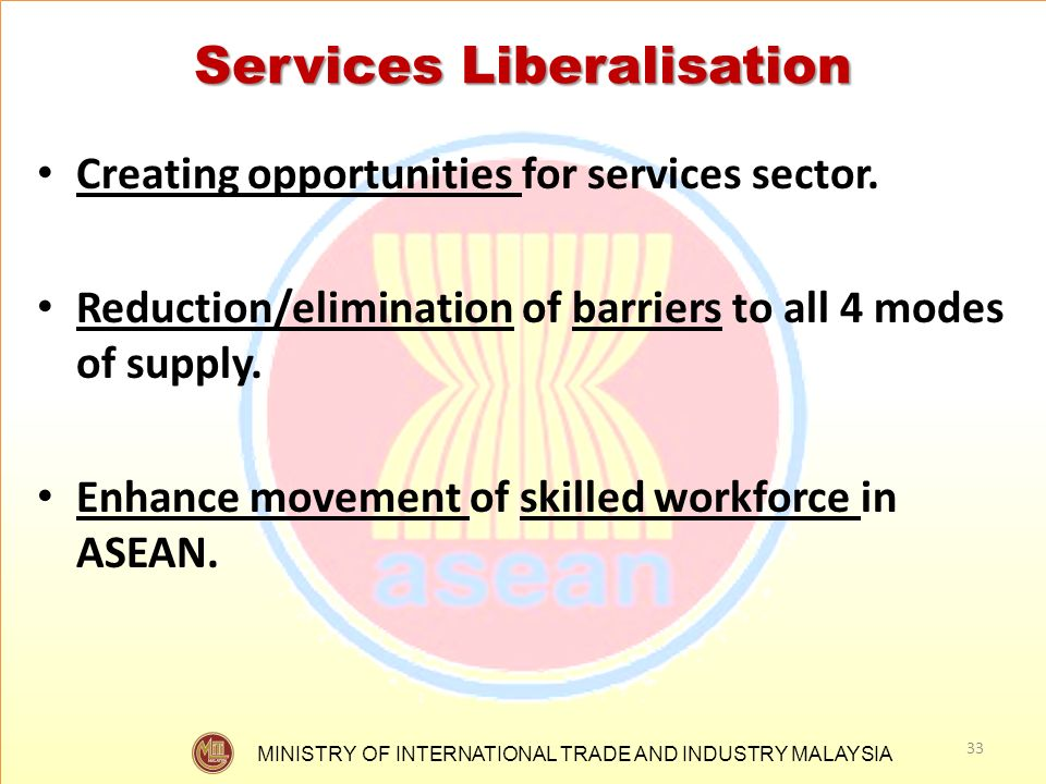 Services Liberalisation
