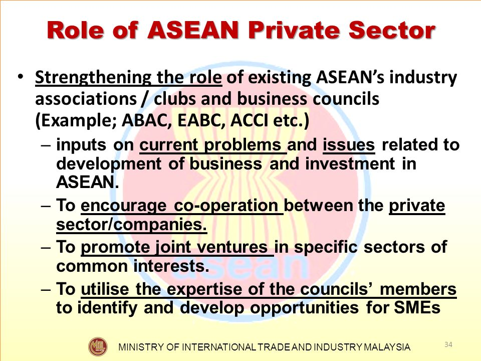 Role of ASEAN Private Sector